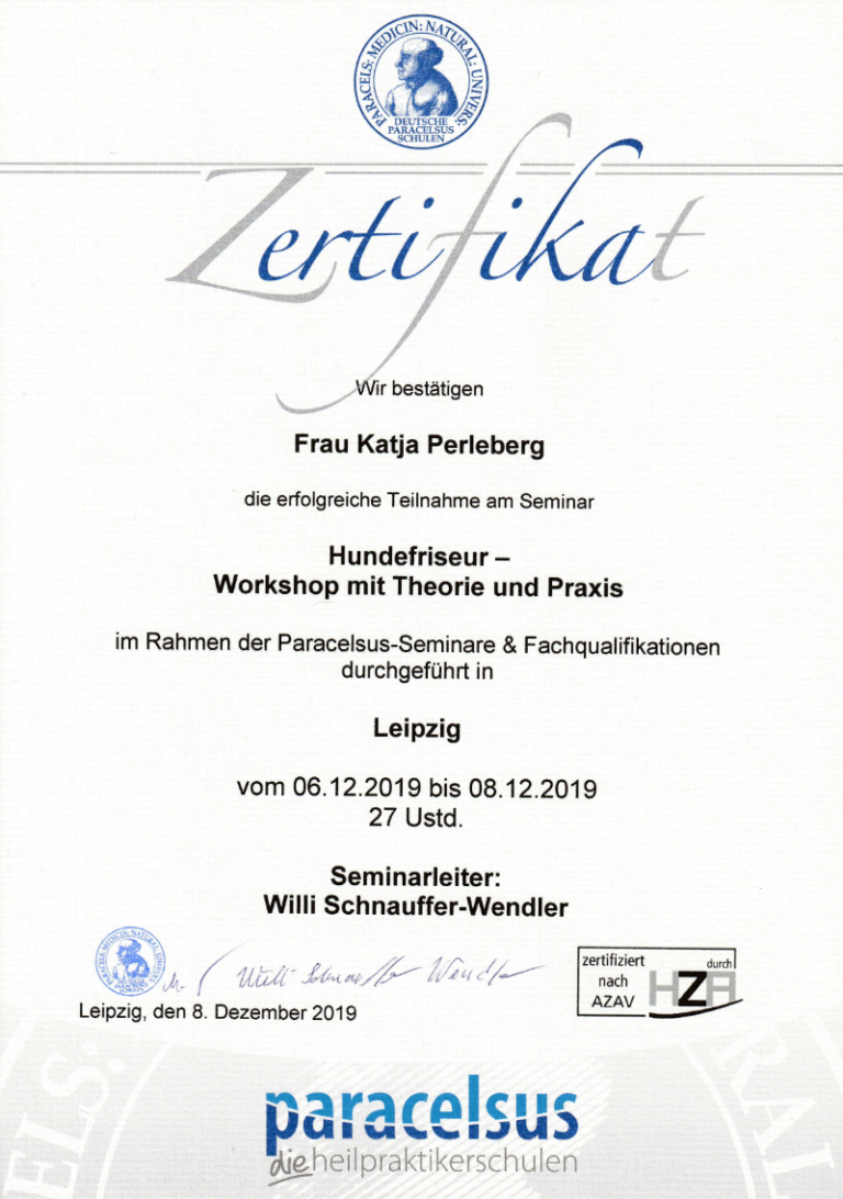 Hundefriseur - Workshop mit Theorie & Praxis